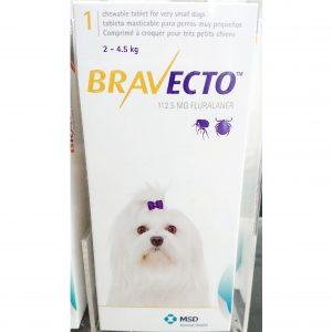 Bravecto สุนัข 2-4.5 กก. ยากิน 3 เดือน กำจัดเห็บ ขี้เรื้อน