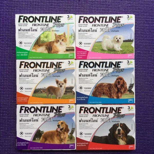 Frontline Plus ฟรอนท์ไลน์ พลัส สุนัข ยาหยอด 3 เดือน กำจัดเห็บหมัด
