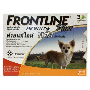 Frontline Plus ฟรอนท์ไลน์ พลัส สุนัข < 10 กก. ยาหยอด 3 เดือน กำจัดเห็บหมัด